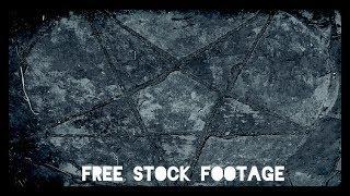 'STONE PENTAGRAM' Free Stock Footage Background