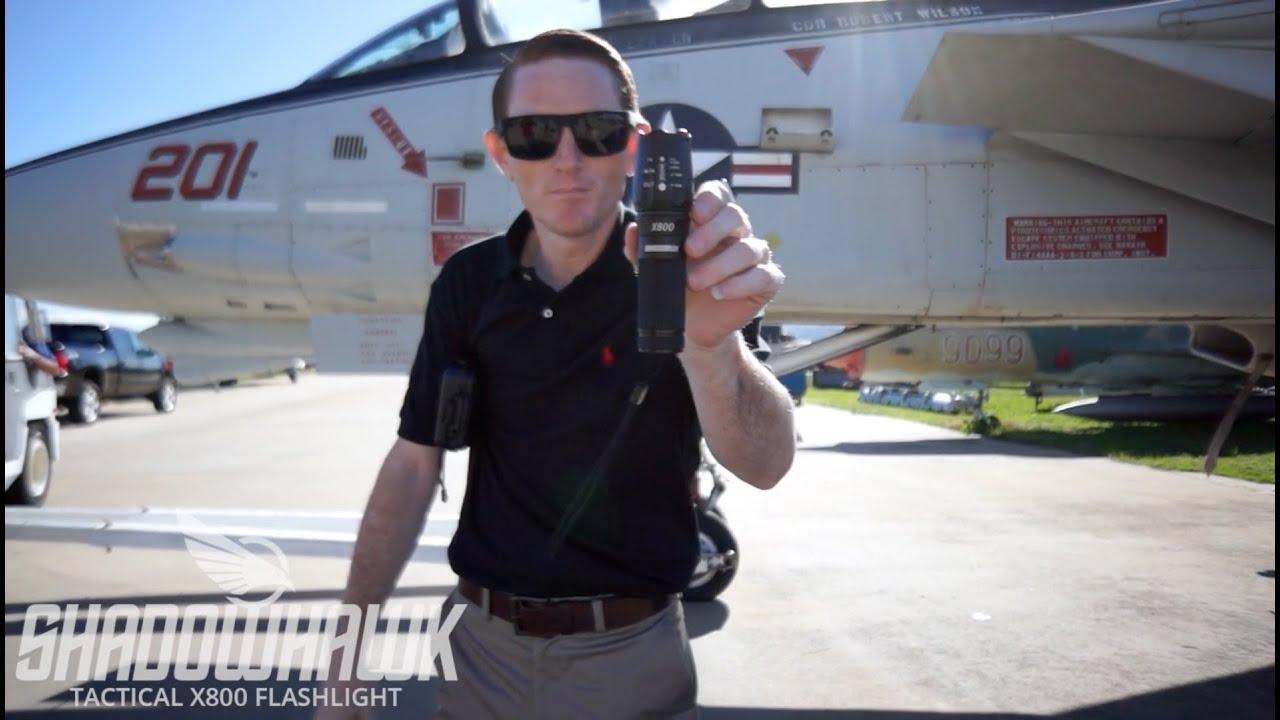 X800 Shadowhawk Tactical Flashlight Durability Test Youtube