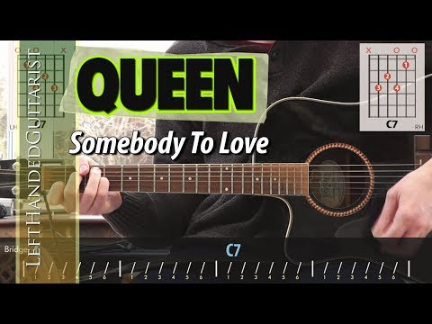Queen - Somebody To Love | acoustic guitar lesson