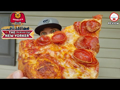 Marco's Pizza® OLD WORLD STYLE PEPPERONI NEW YORKER Review! 🗽🍕