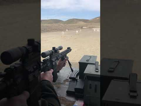 First 6 rounds fired through my PSA 300 Blackout upper. On an Anderson lower.