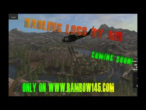 Farming simulator 2017 Bell UH1D Helicopter | Airlifting trees out!