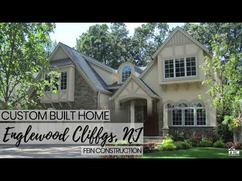 New Jersey Home Builders - Englewood Cliffs, NJ Custom Built Stucco Home