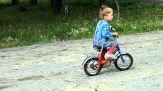 Обучение детей катанию на велосипеде. ч. 3
