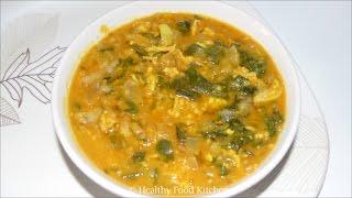 Vallarai Keerai Kootu Recipe - Spinach Recipe - Keerai Recipe - Keerai Kootu Recipe