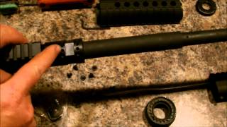 How to:  Install an AR-15 free floating quad rail