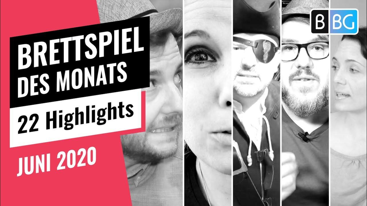 Brettspiel des Monats - Die Highlights von 21 Gästen im Juni 2020
