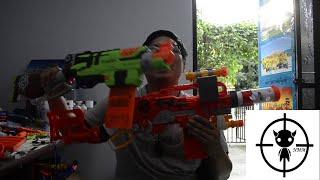Nerf Zombie Scavenger VS Nerf Zombie SlingFire  กระบอกไหนเป็นซองควงที่ดีที่สุด