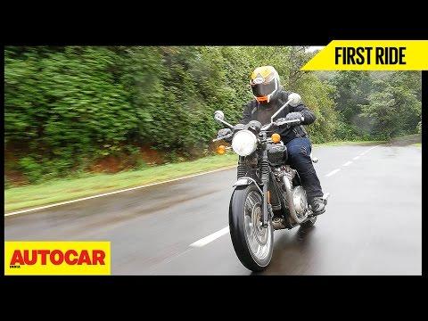 Triumph Bonneville T120   First Ride   Autocar India