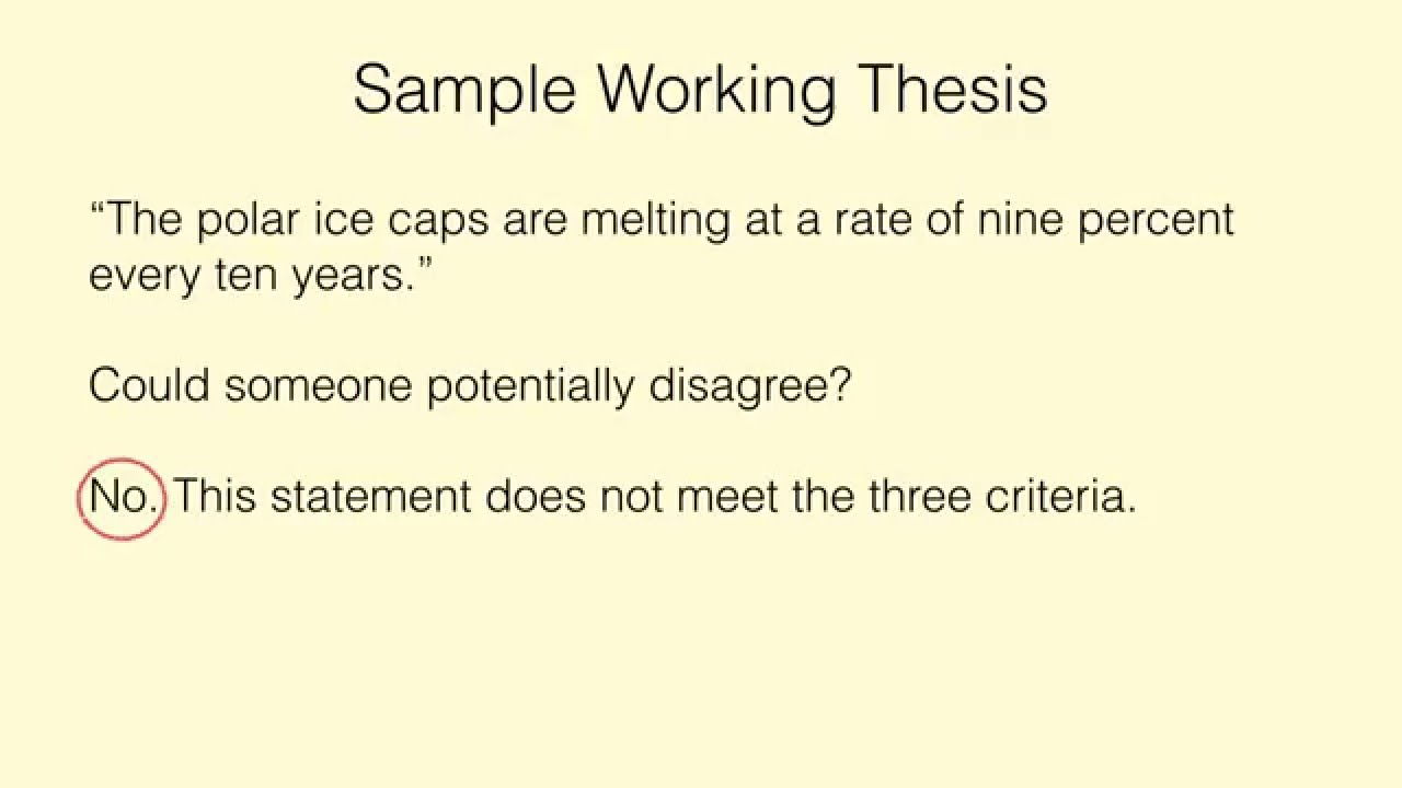 Creating an Arguable Thesis Statement - YouTube