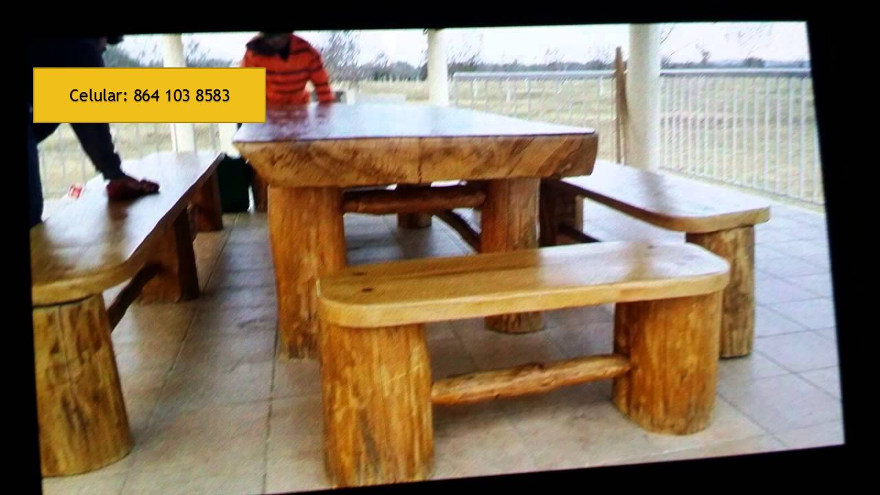 Muebles r sticos de muzquiz don chon youtube for Bar rustico de madera nativa