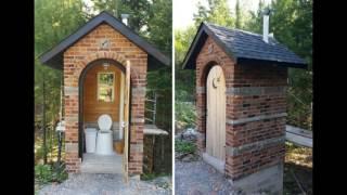видео Виды уличных туалетов для дачи