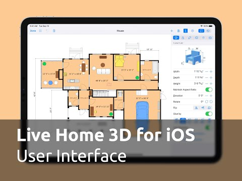 Live Home 3D for iOS / iPadOS Tutorials - User Interface