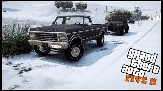 GTA 5 ROLEPLAY - TOTALED MY TRUCK IN FREAK SNOW STORM!! - EP. 525 - CIV