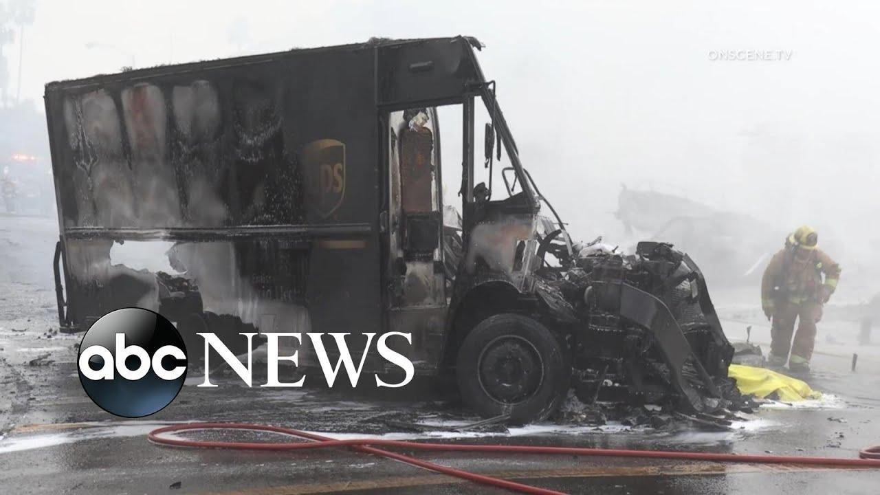 Small plane crashes into UPS truck in California neighborhood | WNT