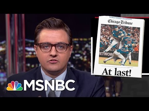 Chris Hayes Shares A Lesson From The Cubs World Series Win | All In | MSNBC