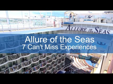 Allure of the Seas Attractions - 7 Can't Miss Experiences - Video Tour