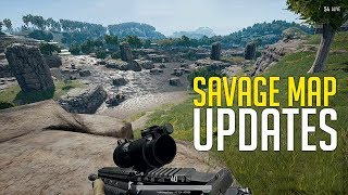 PUBG Savage Map Updates New Places and Features Playerunknowns Battlegrounds