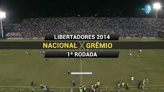 Gol - Nacional (URU) 0 x 1 Grêmio - Libertadores 2014 - 13/02/2014