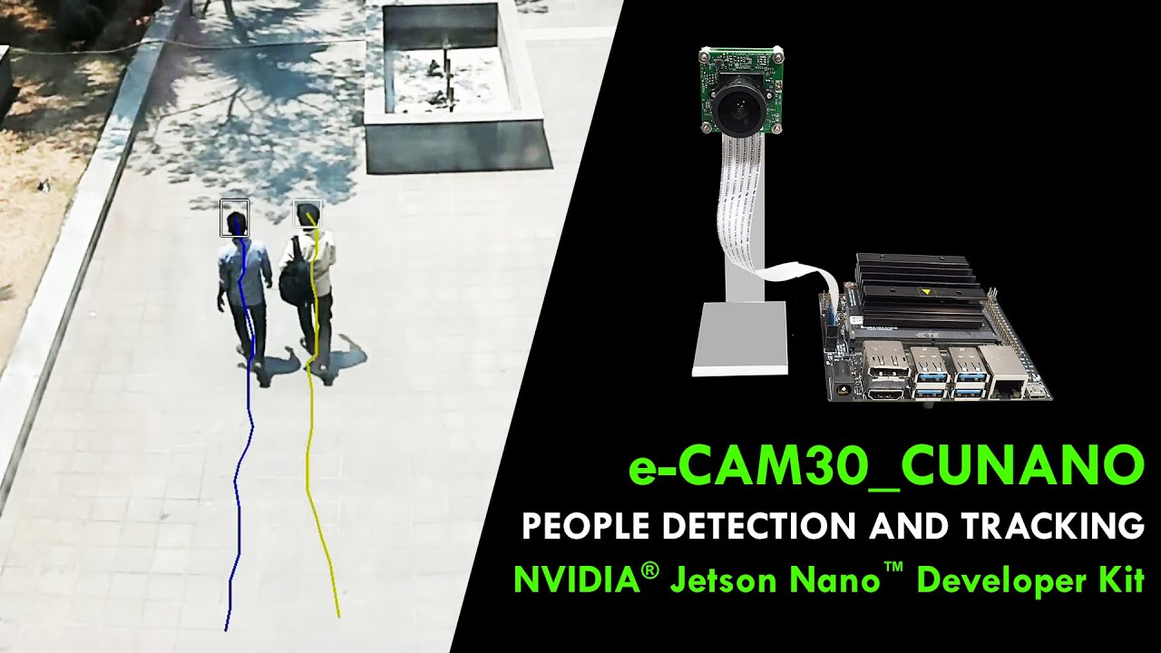 People Detection & Tracking in e-CAM30_CUNANO - NVIDIA® Jetson NANO™  Developer Kit | e-con Systems