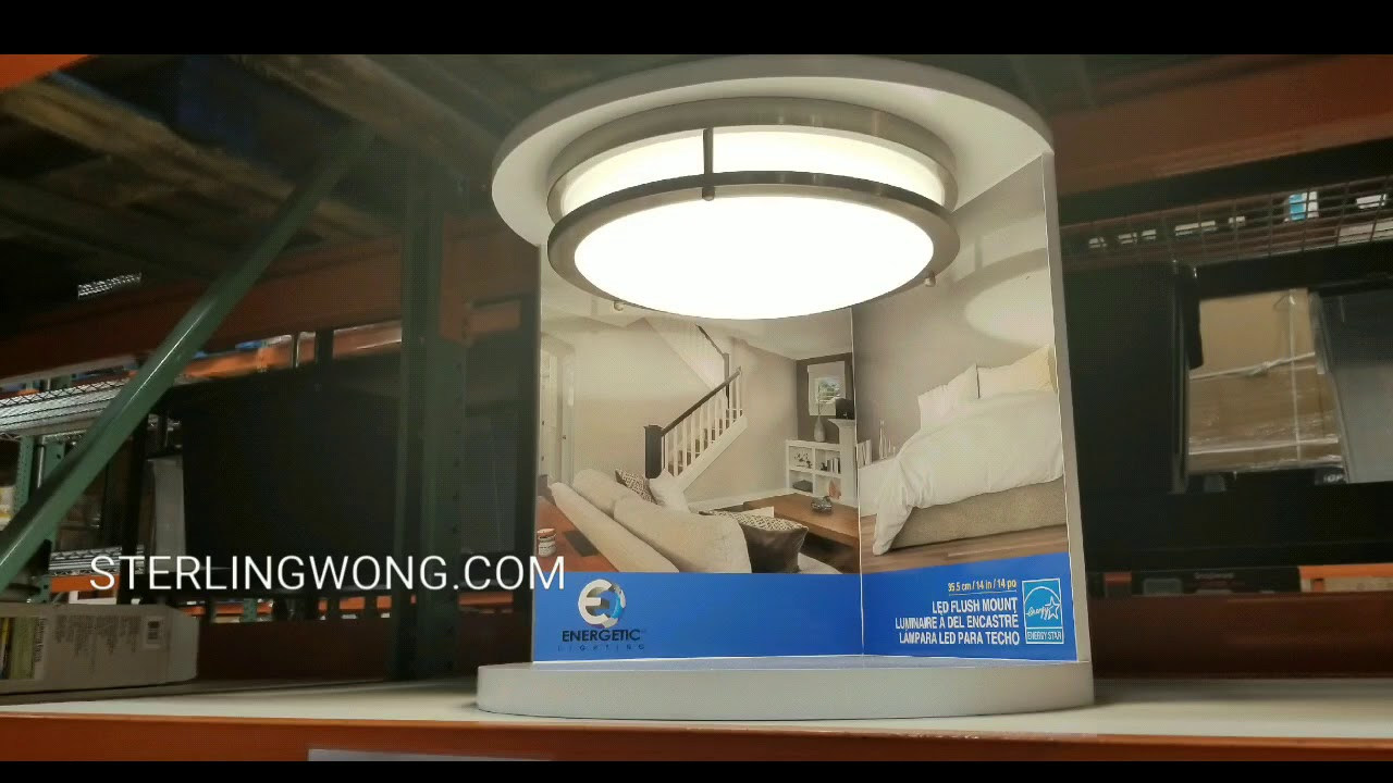 Costco 14 Led Flush Mount Ceiling Light 24 Energetic Lighting Sterling Wong Lifestyle Food Travel And Shopping Blog