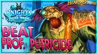 How to beat Professor Putricide - Solo Adventure 🌟 HEARTHSTONE    Frozen Throne Legend