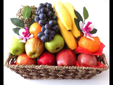 Fruit Baskets Gift Hampers made in a traditional basket