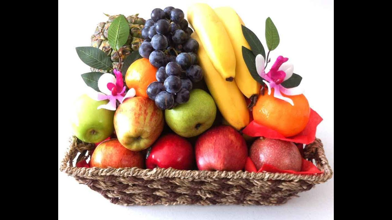 Fruit baskets gift hampers made in a traditional basket youtube negle Gallery
