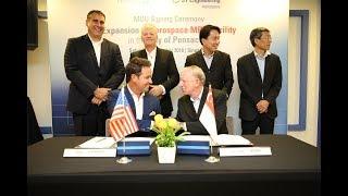 MOU Signing ST Engineering Pensacola