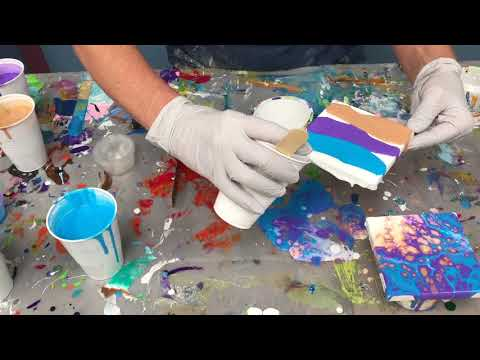 Acrylic Pour Painting: Great Small Gift Ideas Using Arteza Mini Canvas