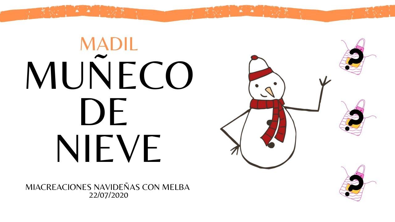 MANDIL MUÑECO DE NIEVE | #MCN 🎄🎁🎇✨💕