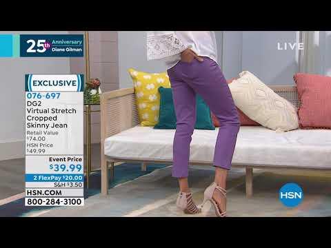 DG2 by Diane Gilman Virtual Stretch Cropped Skinny Jean ... http://bit.ly/2FvZpl7