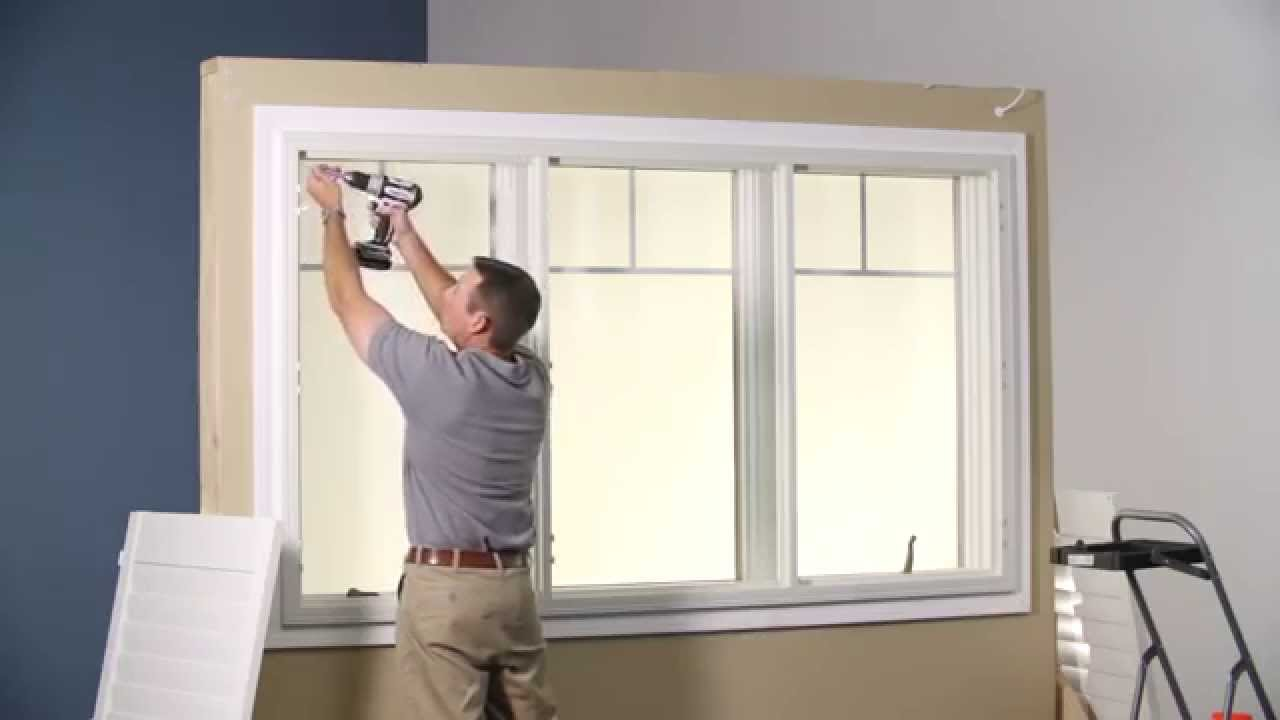 Install Z-frame with T-posts on wood trim window - YouTube