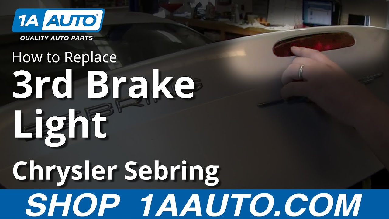 How To Install Service Replace Third Brake Light 2001 06