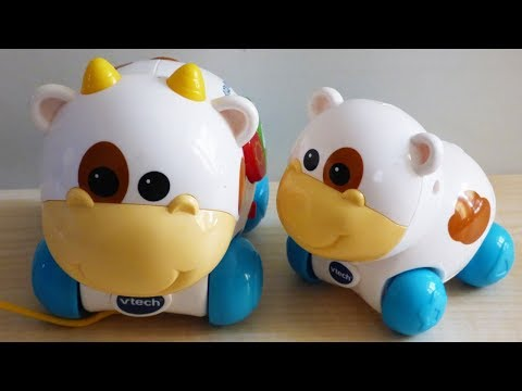 vtech-kiss-and-care-cows-baby,-toddler-toy-review-with-music