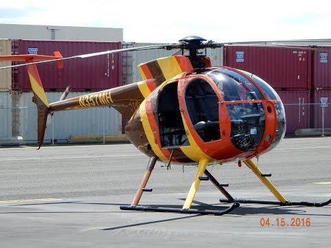 "GoPro Hughes 500 ""Doors Off"" Helicopter Flight in Oahu, Hawaii Takeoff/Landing"