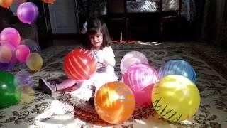 Разноцветные шарики.🎈🎈🎈Песня про цвета на английском языке !#семья пальчиков