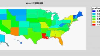 Dynamic Heat Map of Covid-19 Cases by State