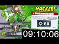 I tested a HACKER to get 60 ELIMINATIONS in 10 minutes.. (Fortnite Battle Royale)
