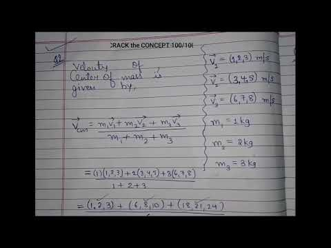STD.11 Physics Sem-2 L-1 Dynamics of System of Particles Exercise Q.2