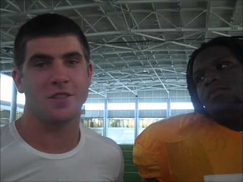 Tyler Bray and the Offensive Line at Video Day