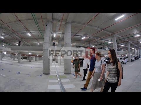 """Report TV - Hapet parkingu nëntokësor publik te sheshi """"Skënderbej"""" në Tiranë"""