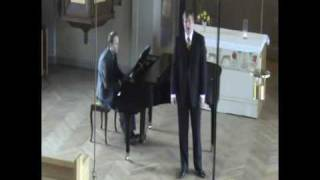 Glenn Bengtsson sings Ditt namn jag hade skrivit by Peterson-Berger in Helsingborg 2009