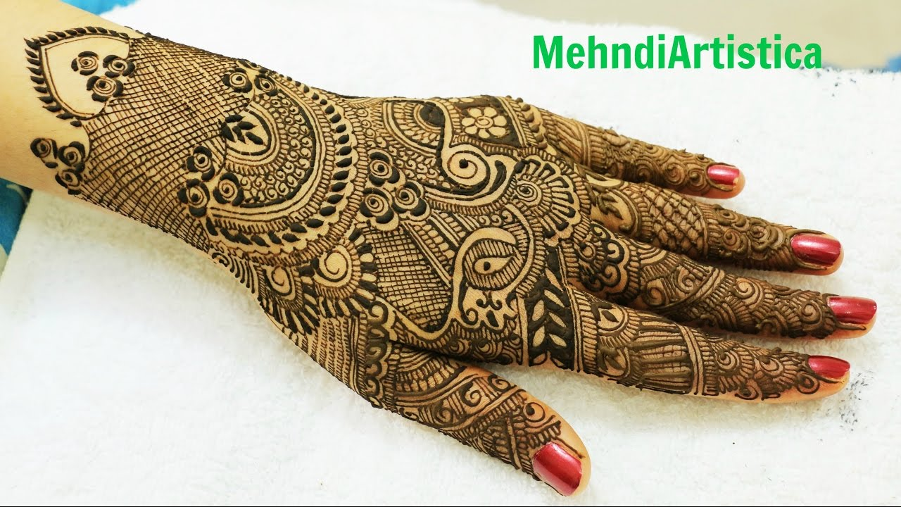 Traditional Mehndi Designs Photos : Full hands traditional mehndi designseasy elegant stylist mehndhi