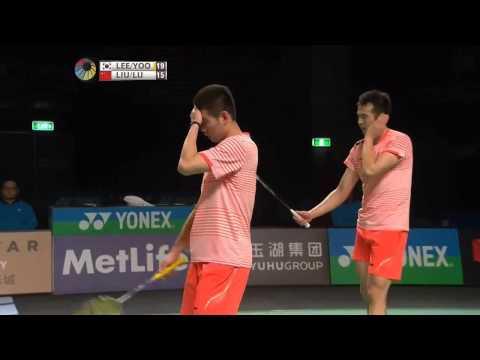 Badminton Australian Open 2015 Men's Double Final Lee Yong Dae/Yoo Yeon Seong vs Liu Cheng/Lu Kai