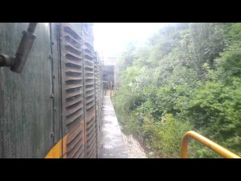 661-243 Train Driver's view: railroad in Serbia from Zemun to New Belgrade - SERBIAN RAILWAYS