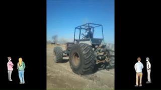 Самодельный Трактор Узбекистанда