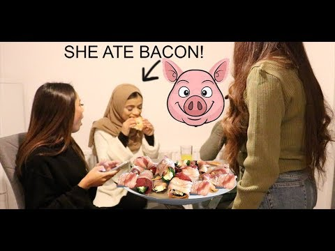BACON PRANK ON MUSLIM FAMILY | She Turns Into A Pig