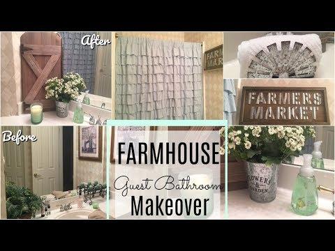 BATHROOM MAKEOVER | DOLLAR TREE DIY | Farmhouse Guest Bath