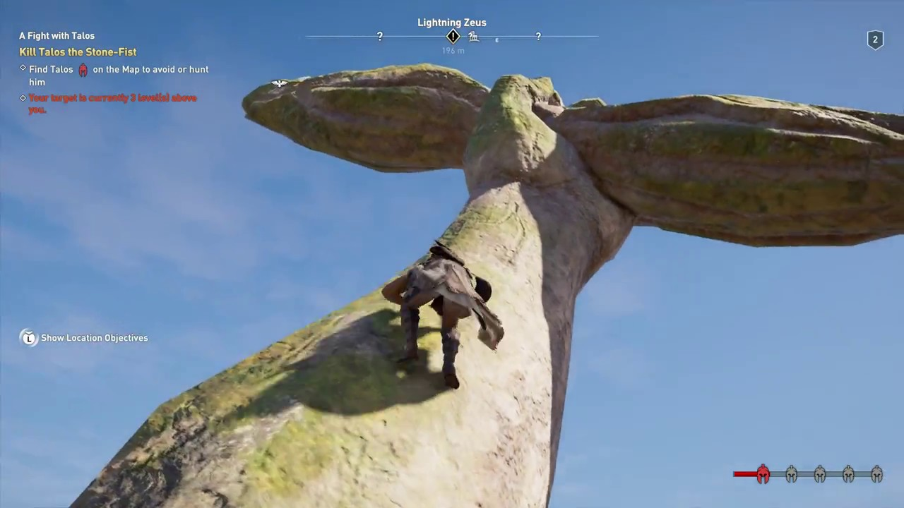 Assassin S Creed Odyssey Climb Statue Of Zeus Get To First